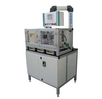 DOSING MOTOR TEST BENCH<br><br>The bench is composed of a cabinet containing the electrical and pneumatic devices used to carry out the test, a test execution area where are place the engines to be tested and an upper part where are present the command devices and the operator panel